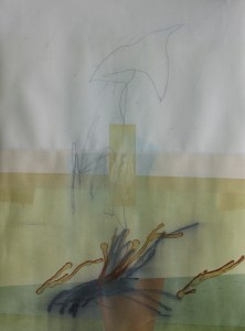 Awakened Birds mixed media on paper 30 x 22 $2400 (framed) 2014
