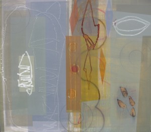 Byzantium (Unwind The Winding Path) mixed media on panel 42 x 48 $5800 2014