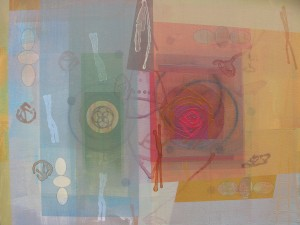 Cuttings (The Small Cells Bulge) mixed media on canvas 36 x 48 $5600 2014
