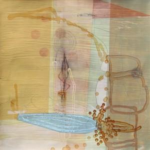 Lake Turkana (Radiating Pools) mixed media on paper 22 1/4 x 22 1/4 $1900 (framed) 2013
