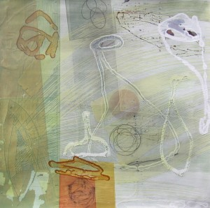 Lake Turkana (Swirling Amphorae) mixed media on paper 22 1/4 x 22 1/4 $1900 (framed) 2013