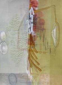 Lake Turkana (Vesuvian Ornaments) mixed media on paper 18 x 13 $1700 2013