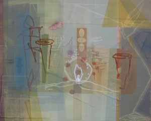 Prufrock (I Am Lazarus) mixed media on panel 48 x 60 $7200 2014