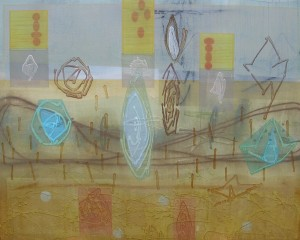 Cuttings Later (Grains Parting At Last) mixed media on canvas 48 x 60 $7200 2014