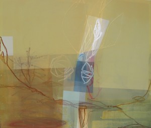 Tintern Abbey (Groves And Copses) mixed media on canvas 46 x 56 $7000 2014