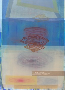 Tintern Abbey (Soft Inland Murmur) mixed media on canvas 48 x 36 $5600 2014