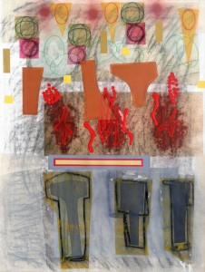Gobekli Tepe III mixed media on paper 30 x 22 $2400 2018