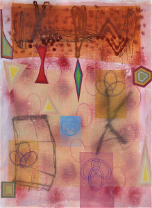 Cave Quilt mixed media on paper 30 x 22 $2800 2019