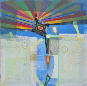 Event Horizon mixed media on canvas 48 x 48 $6000 2019