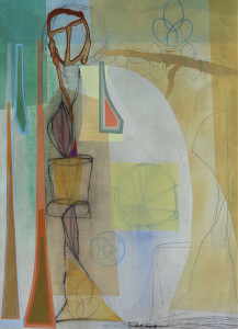 Harvesters mixed media on paper 30 x 22 $2800 2019