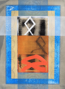 Liminal Icon (Rune Page-Heritage) paper 30x22 $2400 2018