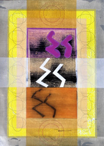 Liminal Icon (Rune Page-Sun) paper 30x22 $2400 2018