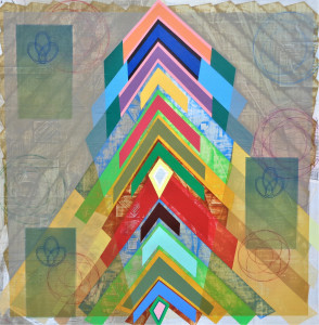 Rainbow Tectiform mixed media on canvas 48 x 48 $6000 2019