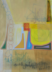 Sun Chant mixed media on paper 30 x 22 $2800 2019