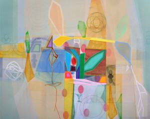 Bloomstone (Vernal Ambling) 48 x 60 canvas $7700 2021