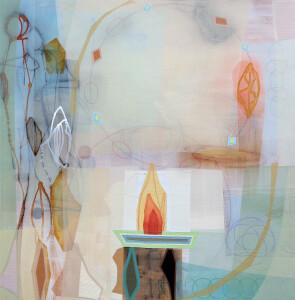Incarnation 48 x 48 mixed media on canvas $6000 2019
