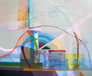 Newgrange (Landscape II) canvas 40 x 48 $5700 2021