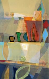 Newgrange (Passage Flame) canvas 48 x 30 $5700 2020