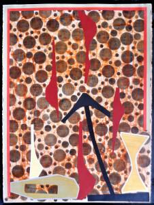 Organic Geometry (El Buey II) paper 30 x 22 $2400 2020