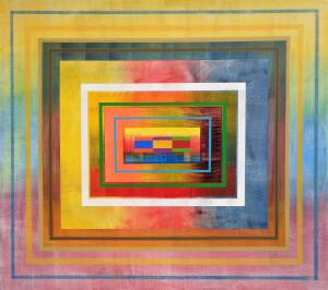 Organic Geometry (Labyrinth II) canvas 48 x 54 $9000 2020