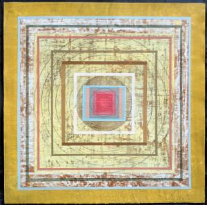 Organic Geometry (Mandala II) paper 22 x 22 $2100 2020