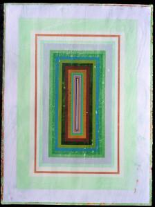 Organic Geometry (Newgrange II) paper 30 x 22 $2400 2020