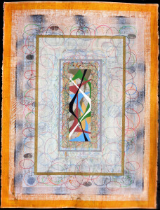 Organic Geometry (Palimpsest II) paper 30 x 22 $2400 2020