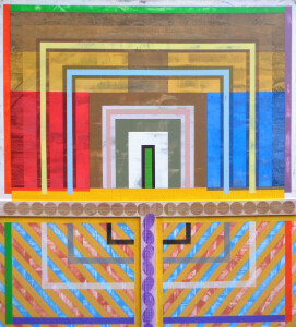 Organic Geometry (Primary Temple) canvas 48 x 44 $5800 2021