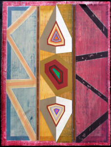 Organic Geometry (Stained Glass I) paper 30 x 22 $2400 2020
