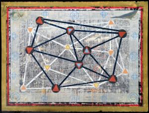 Organic Geometry (Star Map II) paper 22 x 30 $2400 2020