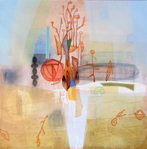 The Living Seasons mixed media on canvas 48 x 48 $6000 2020