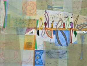 Tideline mixed media on canvas 36 x 48 $5600 2020